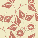 Decorative seamless floral pattern Stock Photos