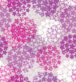 Decorative seamless flower background Stock Photos