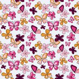 Decorative seamless pattern with butterflies and flowers. Decorative seamless pattern with a butterflies and flowers Stock Image