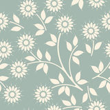 Decorative seamless pattern with chamomile flowers and leaves. Can be used  for design fabric, backgrounds, wrapping paper, package, covers and more creative Stock Photos