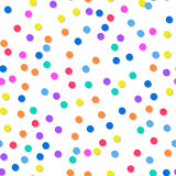 Decorative seamless pattern of confetti. Bright festive background. For design Stock Photos