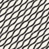 Decorative seamless pattern with doodle lines. Royalty Free Stock Photo