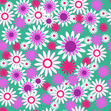 Decorative seamless pattern with flowers Stock Photography