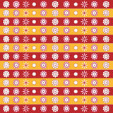 Decorative seamless pattern with flowers. Decorative horizontal pattern with flowers royalty free illustration