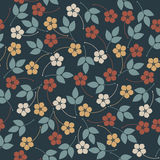 Decorative seamless pattern with flowers and leaves Royalty Free Stock Image