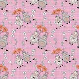 Decorative seamless pattern with funny animals,  design  for children Stock Image