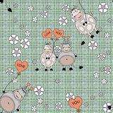 Decorative seamless pattern with funny animals,  design  for children Royalty Free Stock Images