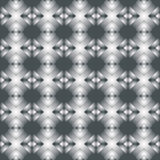 Decorative seamless pattern of geometrical shapes in silver gradient Stock Photography