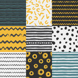 Decorative seamless pattern with handdrawn shapes vector illustration