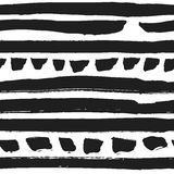 Decorative seamless pattern with handdrawn stripes Stock Images