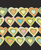 Decorative seamless  pattern with hearts Royalty Free Stock Photography