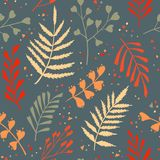 Decorative seamless pattern with leaf, abstract leaf texture. Royalty Free Stock Photos