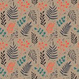 Decorative seamless pattern with leaf, abstract leaf texture. Endless pastel  background. Seamless pattern can be used for wallpaper, pattern fills, web page Royalty Free Stock Photography