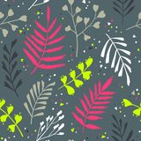 Decorative seamless pattern with leaf, abstract leaf texture. Royalty Free Stock Photography