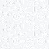 Decorative seamless pattern with love symbols Royalty Free Stock Photos