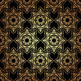 Decorative  seamless pattern in ottoman motif. Vintage Background Traditional Ottoman motifs.Decorative colorful seamless pattern in mosaic ethnic style.Vector Stock Image