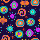 Decorative seamless pattern in psychedelic style Royalty Free Stock Image