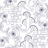 Decorative seamless roses pattern Royalty Free Stock Photos