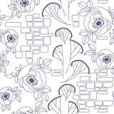 Decorative seamless roses pattern. Decorative seamless pattern with roses Royalty Free Stock Photos