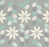 Decorative seamless  pattern with stylish chamomile flowers  Royalty Free Stock Images