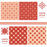 Decorative seamless pattern. Symbol element. Abstract template set of cards.  Royalty Free Stock Image