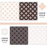 Decorative seamless pattern. Symbol element. Abstract template set of cards. Lace ornament, mandala. Arabic, Islam design elements Stock Photo