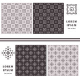 Decorative seamless pattern. Symbol element. Abstract template set of cards. Stock Photos