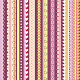 Decorative seamless pattern with  vertical stripes Stock Image