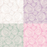 Decorative seamless patterns Royalty Free Stock Photos