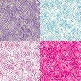Decorative seamless patterns Royalty Free Stock Photo
