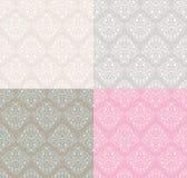 Decorative seamless patterns Stock Photo