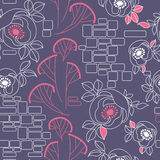 Decorative seamless roses pattern. Decorative seamless pattern with roses Stock Photography