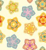 Decorative seamless  snowflakes pattern Stock Image