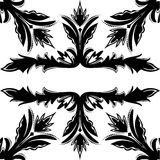 Decorative seamless vector black-and-white texture Royalty Free Stock Photos