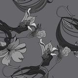 Decorative seamless wallpaper. Universal template for greeting card, web page, background Royalty Free Stock Photography