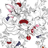 Decorative seamless wallpaper Stock Images