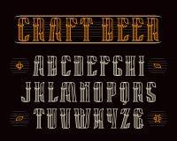 Decorative serif font in retro style Stock Photography