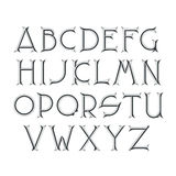 Decorative serif latin font. Royalty Free Stock Image