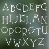 Decorative serif latin font. Royalty Free Stock Photo