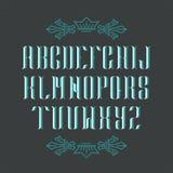 Decorative serif latin font. Royalty Free Stock Images