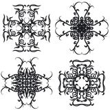 Decorative set cross I b&w Royalty Free Stock Images