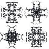Decorative set cross I b&w Royalty Free Stock Images