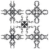 Decorative set cross II b&w Royalty Free Stock Images