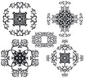 Decorative set cross III b&w Royalty Free Stock Photos