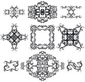 Decorative set cross IV b&w stock illustration