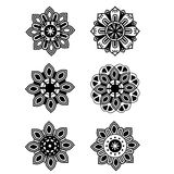 Decorative set design flowers Royalty Free Stock Photography