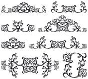 Decorative set III b&w Stock Image