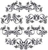 Decorative set IV b&w Royalty Free Stock Images
