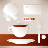 Set of label coffee Stock Image