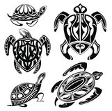Set of decorative turtles Royalty Free Stock Photography